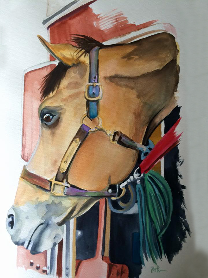 Custom Pet Portrait of Sandstorm the horse